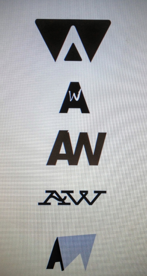 A.W. Logo concept for a writer's personal stationary