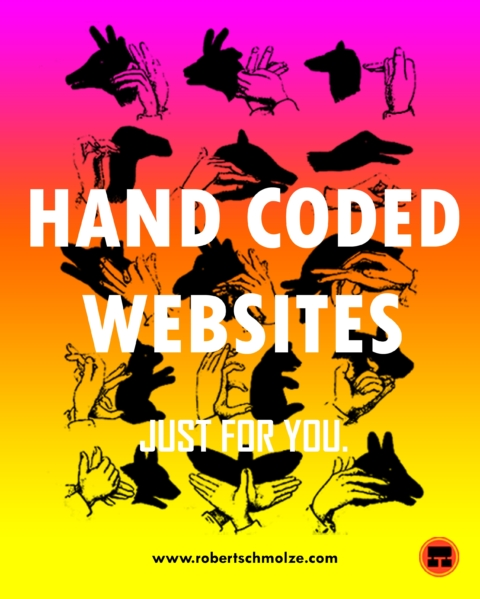 Hand Crafted Websites Poster