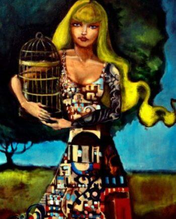 bridgefsfileUsersrobertschmolzePicturesRobert1Fine art1HIgh quality fineart12x18posterswoman with cage