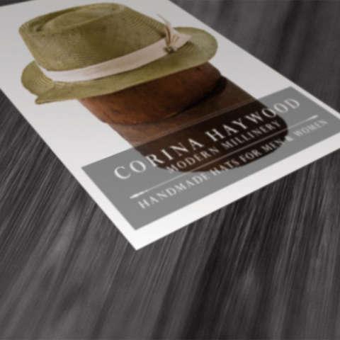 Postcard | Corina Haywood Modern Millinery